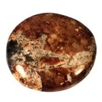 Garnet in Limestone Polished Stone ~40mm