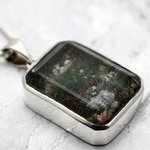Lodalite 'Garden' Quartz & Silver Faceted Pendant ~30mm