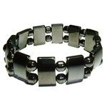 Magnetic Hematite Bracelet - Rectangles and Small Barrels