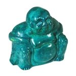 Malachite Howlite Carved Sitting Buddha Statue