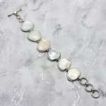 Mother of Pearl & Silver Bracelet ~185mm