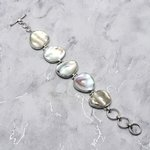 Mother of Pearl & Silver Bracelet ~203mm