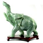 New Jade Carved Crystal Elephant