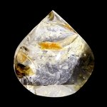 Pale Citrine Flame Shaped Polished Point ~7.5 x 7cm