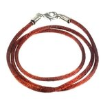 Polyester Cord Necklace - 18inch (Brown)