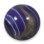 Purple Banded Agate Crystal Sphere ~6cm