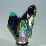 Rainbow Aura Quartz Healing Crystal ~69mm