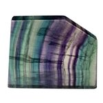 Rainbow Fluorite Geometric Tablet ~65mm