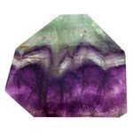 Rainbow Fluorite Geometric Tablet ~75mm