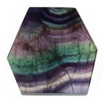Rainbow Fluorite Geometric Tablet ~81mm