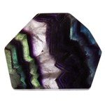 Rainbow Fluorite Geometric Tablet ~85mm