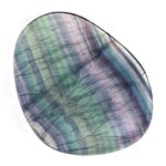 Rainbow Fluorite Slice  ~110mm
