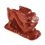 Red Goldstone Chinese Dragon
