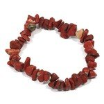 Red Jasper Gemstone Chip Bracelet