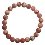 Rhodochrosite Power Bead Bracelet