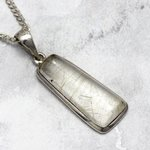 Rutilated Quartz & Silver Pendant ~ 27mm
