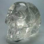 Rutilated Quartz Crystal Skull ~11 x 8cm
