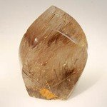 Rutilated Quartz Polished Point ~7.5 x 5.5cm