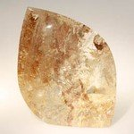Rutilated Quartz Polished Point ~8.5 x 7cm