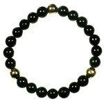 Shungite & 3 Bright Metal Power Beads Bracelet
