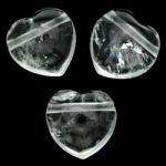 Side Drilled Quartz Hearts - 30mm