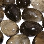 Smoky Quartz Crystal Egg ~48mm