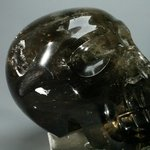 Smoky Quartz Crystal Skull ~12.1 x 6.9cm