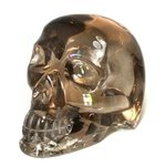 Smoky Quartz Crystal Skull ~12 x 9cm