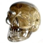 Smoky Quartz Crystal Skull ~7 x 6cm