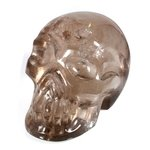 Smoky Quartz Crystal Skull ~9.2 x 6.5cm