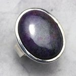 Sugilite & Silver Ring Oval - size - UK - R. USA - 9