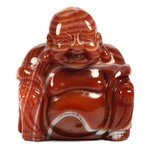 Superior Carnelian Carved Sitting Buddha Statue