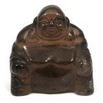 Superior Smoky Quartz Sitting Buddha Statue