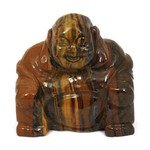 Superior Tiger Eye Carved Sitting Buddha Statue