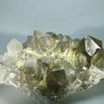 SUPERLATIVE Smoky Quartz with Golden Rutile Cluster ~15.4cm