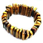 Tiger Eye Gemstone Nugget Bracelet - Batons