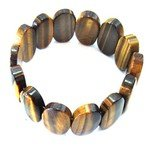 Tiger Eye Gemstone Nugget Bracelet - Ovals