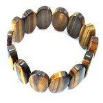 Tiger Eye Gemstone Nugget Bracelet - Ovals