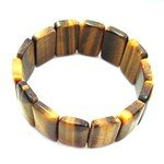 Tiger Eye Gemstone Nugget Bracelet - Rectangles