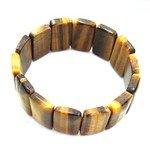 Tiger Eye Gemstone Nugget Bracelet - Rectangles