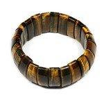 Tiger Eye Nugget Bracelet - Curved Rectangles