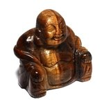 Tiger Eye Sitting Buddha Statue