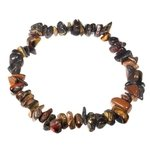 Tiger Iron Gemstone Chip Bracelet
