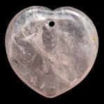 Front Drilled Rose Quartz Hearts - 40mm