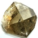 TRANSFORMATIONAL Golden Rutile Smoky Quartz Polished Freeform ~122mm