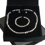 White Pearl Jewellery Gift Set