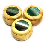 Wooden Jewel Box ~ Agate Green, Small
