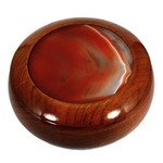 Wooden Jewel Box ~ Carnelian, Large