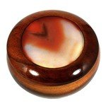 Wooden Jewel Box ~ Carnelian, Medium