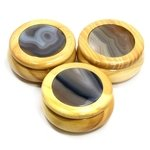 Wooden Jewel Box ~ Natural Agate, Medium